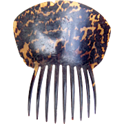 Georgian tortoiseshell hair comb Spanish style hair accessory (AHA)