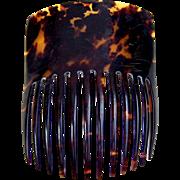 Victorian Spanish style hair comb faux tortoiseshell hair accessory (AIA)