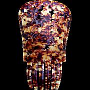 Spanish mantilla comb faux tortoiseshell hair accessory
