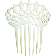 Art Deco French Ivory hair comb Spanish style hair accessory
