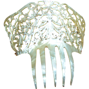 Spanish mantilla style hair comb mother of pearl effect hair accessory