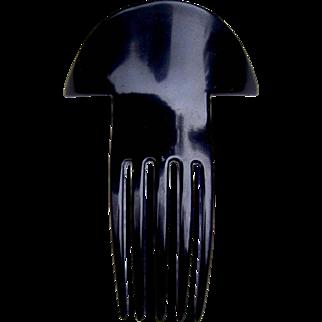 Art Deco hair comb vintage black celluloid hair accessory