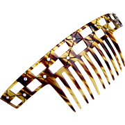 Art Deco bandeau style hair comb faux tortoiseshell hair accessory