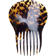 Regency period hair comb natural tortoiseshell Spanish mantilla style hair accessory
