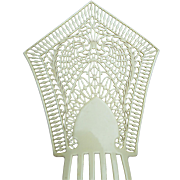 Oversized Art Deco hair comb French Ivory Spanish style hair accessory