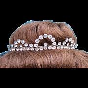 Vintage rhinestone tiara hair accessory bridal wedding headdress