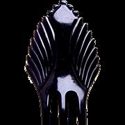 Art Deco hair comb black celluloid Spanish style hair accessory