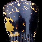 Victorian hair comb faux tortoiseshell Spanish mantilla style hair accessory