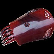 Spanish mantilla comb Art Deco celluloid faux tortoiseshell hair accessory