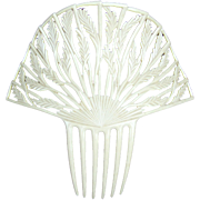 French Ivory hair comb Art Deco Spanish style hair accessory