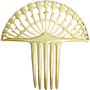 Art Deco Spanish style hair comb French Ivory hair accessory