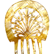 Art Deco celluloid hair comb Spanish mantilla hair accessory