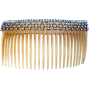 Edwardian rhinestone hair comb hair accessory