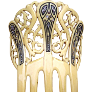 French ivory hair comb, Spanish style hair accessory