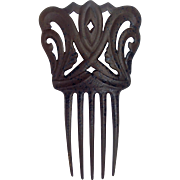 Victorian mourning hair comb vulcanite comb hair accessory