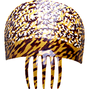 Spanish mantilla style hair comb faux tortoiseshell hair accessory