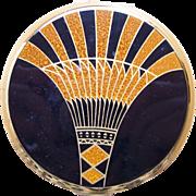 Stratton Egyptian style powder compact mid century