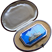 Souvenir boxed powder compact duo butterfly wing liner Atlantic