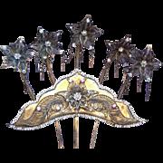 Vintage tiara hair comb Indonesian headdress headpiece belly dance hair accessory hair pin crown hair ornament (AAL)