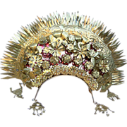 Vintage hair comb tiara Indonesian wedding headdress hair accessory hair pin crown head piece (AAD)