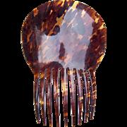Spanish Mantilla Style Hair Comb Victorian Tortoiseshell Hair Accessory