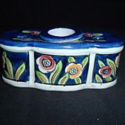 19th Century Aladin France Faience Single-Pot Inkwell