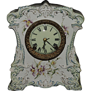 Beautiful Porcelain Ansonia Mantel 8-day Clock, C.1908