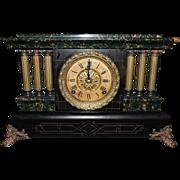 Outstanding Seth Thomas Adamantine Three Half-Pillar Shelf Clock, C. 1913