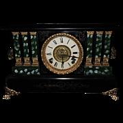 Beautiful Seth Thomas Adamantine Three Square Half-Pillar Shelf 8-day Clock, C. 1910