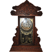 Striking E. Ingraham & Co. 8-Day Time & Chime Kitchen Clock, C. 1870