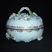 Meissen-Style Carl Thieme Saxonian Porcelain Factory Covered Bowl,  C. 1888