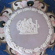 Vintage Lilac Wedgwood Large Lidded Jasper Ware Box