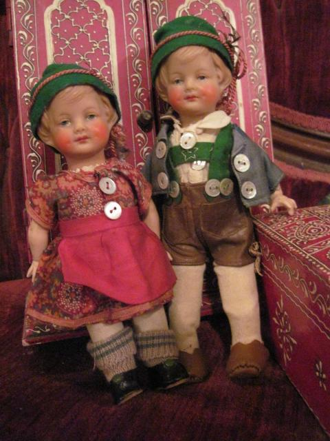 Antique Wagner & Zetsche German Hansi Haralit Doll Pair 2