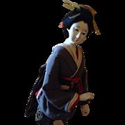 Vintage Japanese Ningyo Lady Doll with Gofun Head