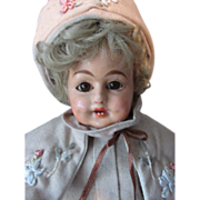Antique German Papier Mache Schilling Character Doll