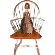 Rare Antique Wooden Queen Anne Period Doll with Provenance