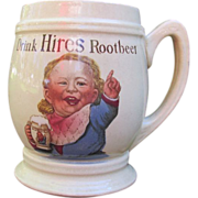 Antique Hires Root Beer Mug Baby Face Villeroy & Boch