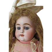 HUGE Early Kestner All Bisque Antique Doll with Trousseau
