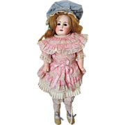 Antique German Bisque Mystery Doll with Straight Wrists