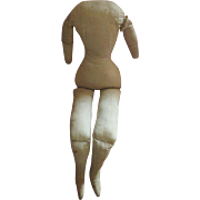 SUMMER SALE : Early Antique Cloth Dol Body suitable for a China, Papier Mache, Wax or Wooden Head