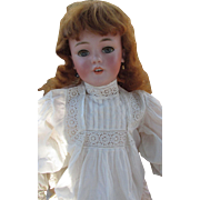 "Antique Life Size 35"" Bisque Head Character Simon Halbig 1249 Santa Doll in Antique Clothing"
