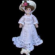 Scarce Smallest Size Antique Kestner 172 Gibson Girl in Garden Tea Gown