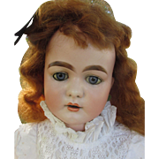 Fabulous Huge Antique Desirable 192 Kestner Bisque Head Doll with Pierced Ears Rarely Found in this Size