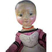 All Original Huge Izannah Walker Inspired Cloth Artist Doll by Jackie Eberly