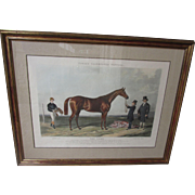 3 Desirable Fores's Celebrated Winners Series British Sports 19th Century Horse Racing Hand Finished Aquatints J Harris