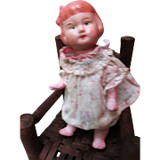Adorable Spring Jointed Vintage Pre-WWII Papier Mache Character Toddler Doll