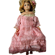 Beautiful Antique English Wax Young Lady Doll with Poured Wax Limbs