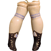 China Replacement Legs for Antique China Head Doll
