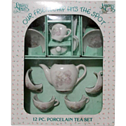 Precious Moments 12 Piece Porcelain Tea Set 1985 Japan for Doll and Child