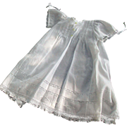Vintage Beautiful Baby's Cotton Insertion Lace Christening or Wedding Outfit Handmade in Brazil
